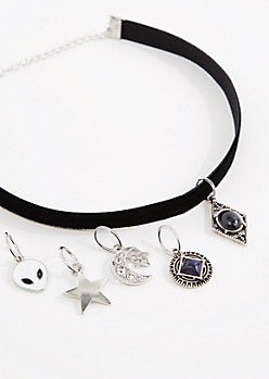 Crescent Interchangeable Mood Stone Choker
