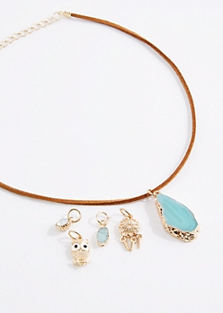 Aqua Quartz Interchangeable Choker