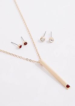 January Birthstone Jewelry Set