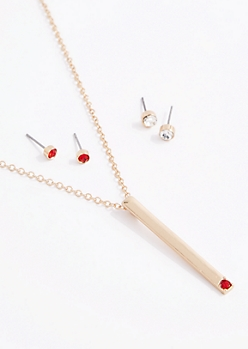 July Birthstone Jewelry Set