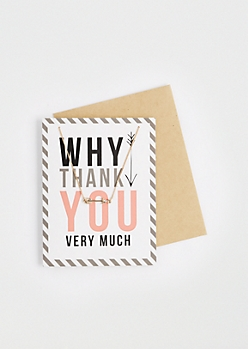 Why Thank You Necklace & Greeting Card Set