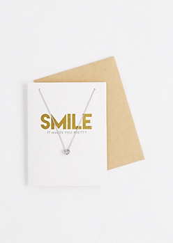 Pretty Smile Necklace & Greeting Card Set