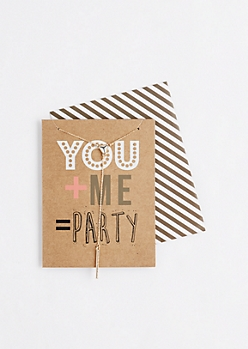 You + Me = Party Necklace & Greeting Card Set