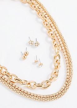 Mixed Chain Jewelry Set