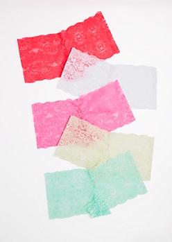5-Pack Coral Lace Boyleg Undie