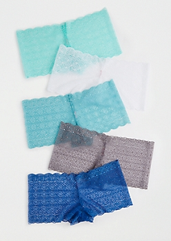 5-Pack Blue Diamond Lace Boyleg