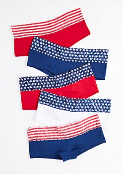 5-Pack Americana Lace Cheeky Hipster Undie