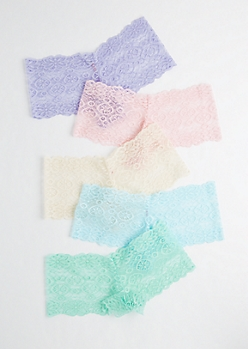 Pastel Lace Cheeky Hipster Set