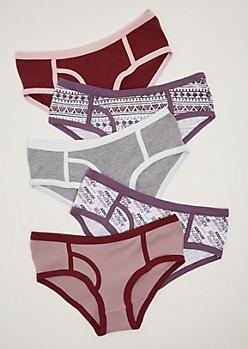 5-Pack Assorted GRL PWR Bikini Undie Set