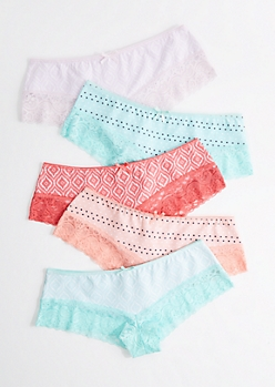 5-Pack Lace Trimmed Bikini Undie