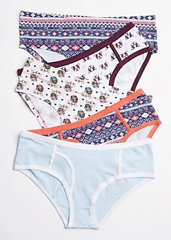 5-Pack Pug Life Bikini Undie Set