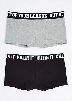 2-Pack Gray Killin It Boyleg Undie