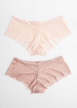 2-Pack Light & Dusty Pink Daisy Boyleg Undie