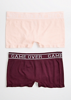 2-Pack Game Over Seamless Boyleg Undie