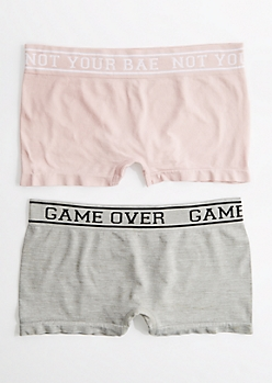 2-Pack Not Your Bae Seamless Boyleg Undie