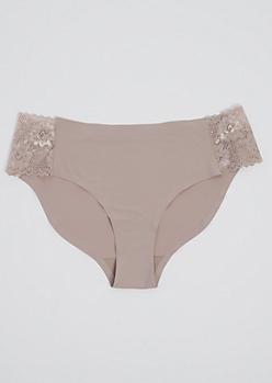Nude Lace Side Seamless Bikini Undie