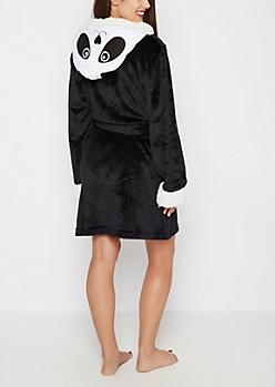 Panda Hooded Plush Robe