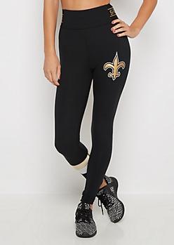 New Orleans Saints Striped Legging