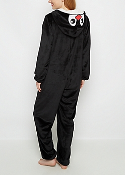 Penguin Hood Fleece Onesie