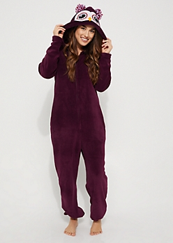 Owl Plush Hooded Onesie