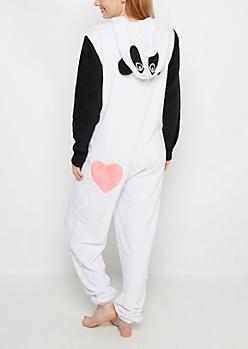 Panda Hooded Fleece Onesie
