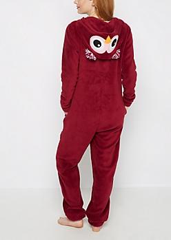 Owl Plush Hoodie Onesie