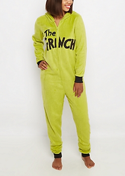 The Grinch Fleece Onesie