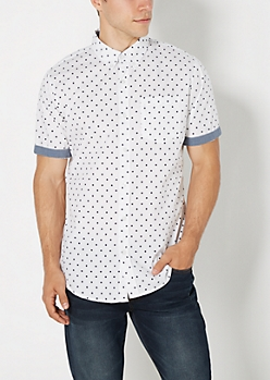 Tossed Star Button Down