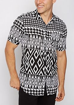 Collage Print Short Sleeve Shirt