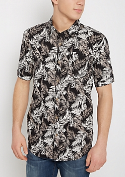 Palm Tree Streak Short Sleeve Shirt