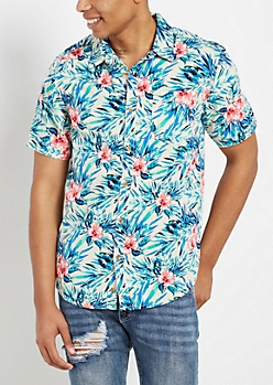 Watercolor Hawaiian Short Sleeve Shirt