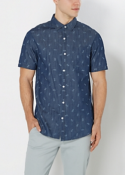 Tossed Pineapple Chambray Shirt