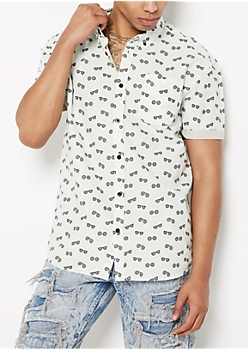 Aviator Short Sleeve Button Down