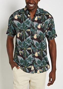 Toucan Soft Woven Button Down