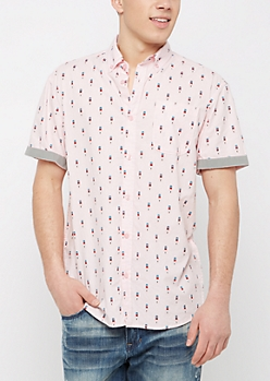 Popsicle Short Sleeve Button Down