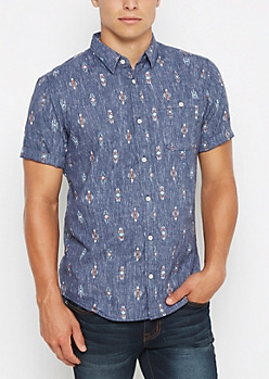 Reverse Tribal Short Sleeve Shirt