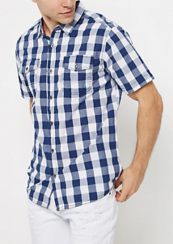 Blue Buffalo Plaid Short Sleeve Shirt