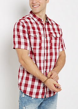 Red Buffalo Plaid Short Sleeve Shirt
