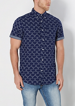 Crossed Arrow Long Length Button Down
