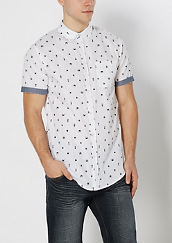 Tropical Longline Short Sleeve Shirt