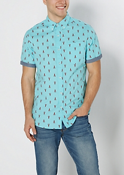 Mini Lobster Short Sleeve Shirt