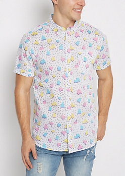 Retro Scribble Short Sleeve Shirt