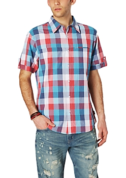 Miner Check Short Sleeve Button Down