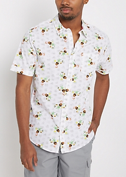 Tropical Slice Short Sleeve Button Down