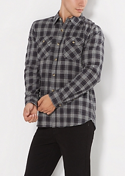 Static Plaid Classic Button Down