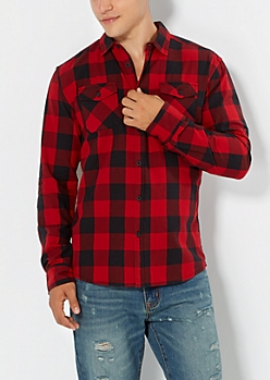 Red Buffalo Plaid Button Down