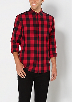 Classic Red Buffalo Check Button Down
