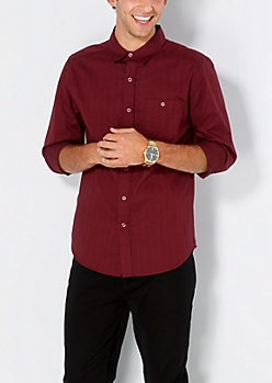 Burgundy Button Down Shirt