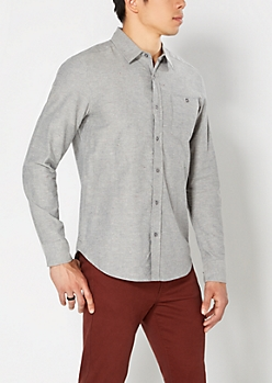 Speckled Gray Button Down