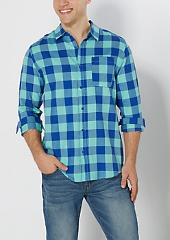 Blue Buffalo Plaid Shirt